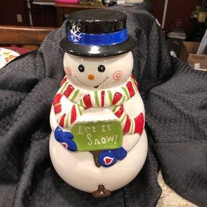 Let it snow cookie jar Celebratimg Home